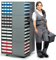 Поворотная стойка с кассетницами 16-400 Turntable SET