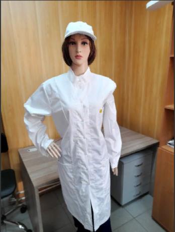 Антистатический женский халат EZ-М-156-L с воротником